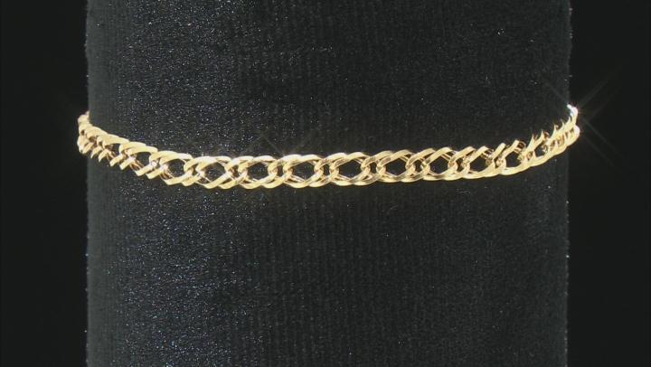 10K Yellow Gold 4MM Double Grumette Bracelet