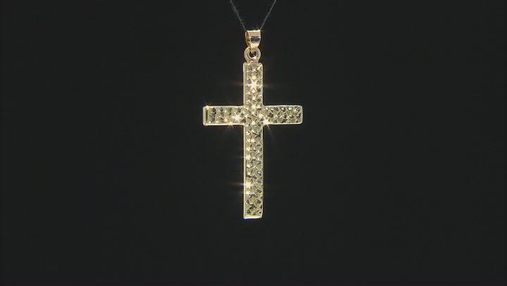 14K Yellow Gold Polished Diamond-Cut Cross Pendant