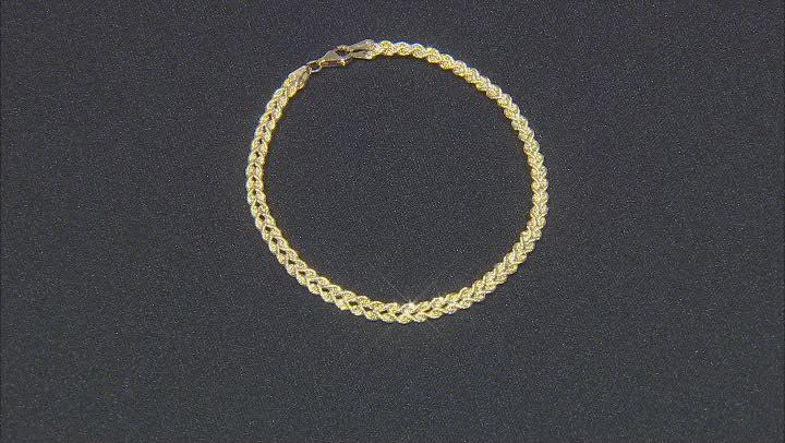 14K Yellow Gold Polished Multi-Strand Rope Link 7.5 Inch Bracelet