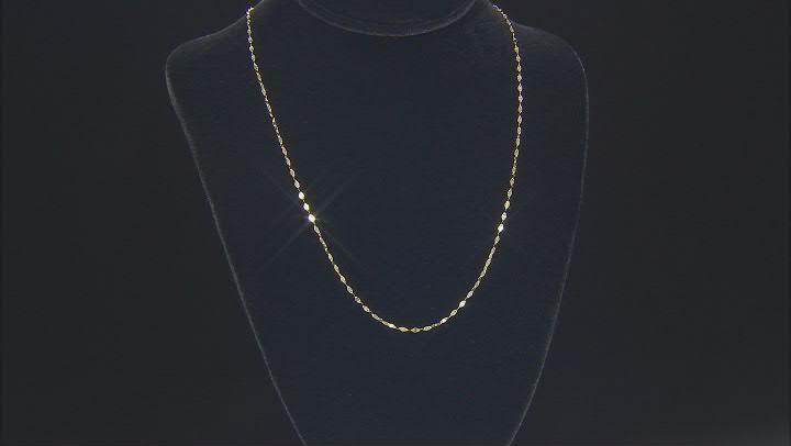 10K Yellow Gold 1.9MM Flat Mirror Chain
