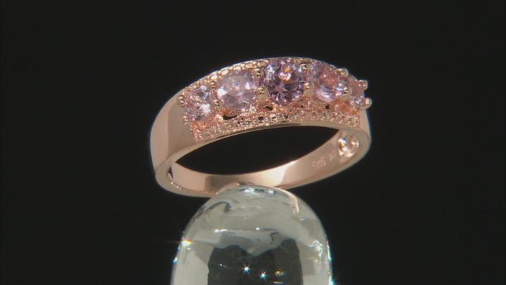 Pink color shift garnet 18k gold over silver ring 1.34ctw