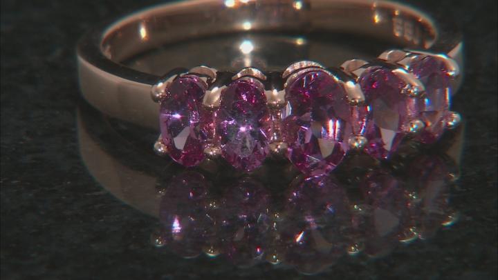 Pink Blush Color Garnet 18k Rose Gold Over Sterling Silver Ring 1.36ctw