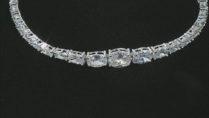 White Cubic Zirconia Rhodium Over Sterling Silver Tennis Bracelet 13.62ctw