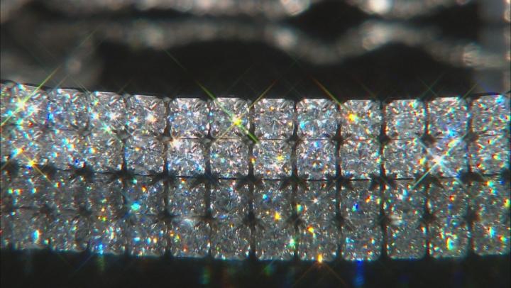 White Cubic Zirconia Rhodium Over Sterling Silver Adjustable Bracelet 5.55ctw