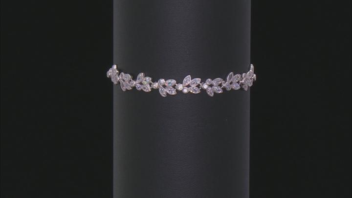 White Cubic Zirconia Rhodium Over Sterling Silver Adjustable Bracelet 3.63ctw