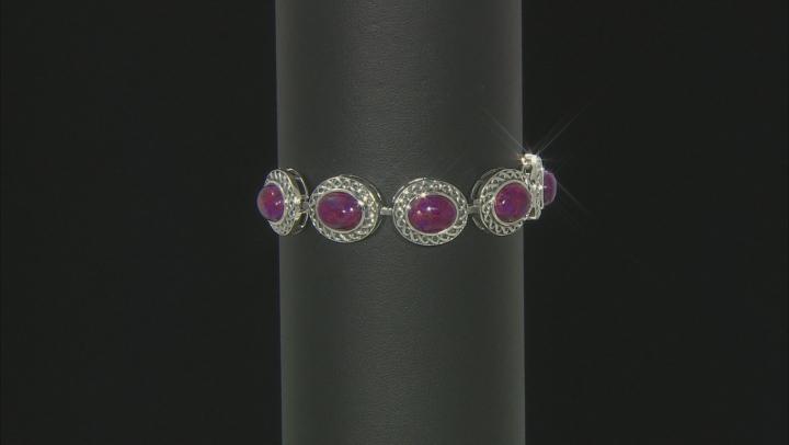 Purple Turquoise Sterling Silver Bracelet