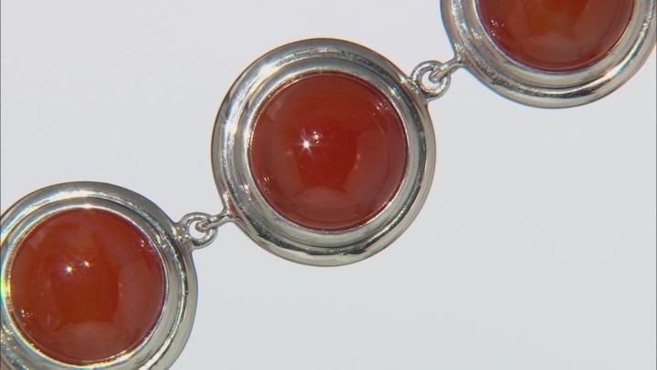 Orange Carnelian Sterling Silver Bracelet