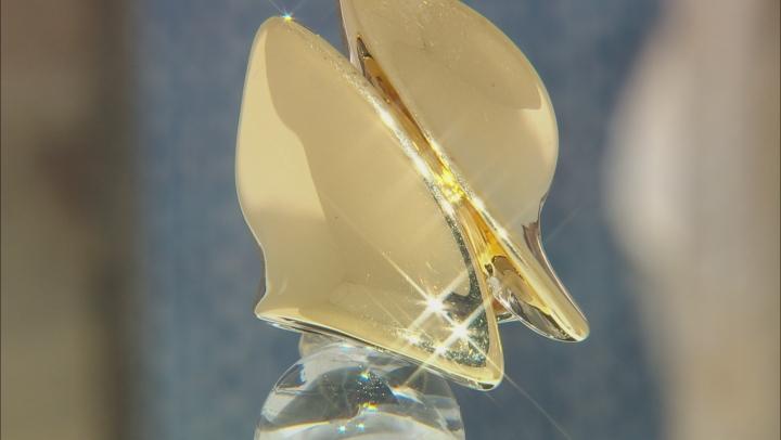 18k Yellow Gold Over Bronze Statement Ring
