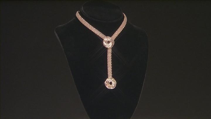 18k Rose Gold Over Bronze Rosetta Necklace 24 inch