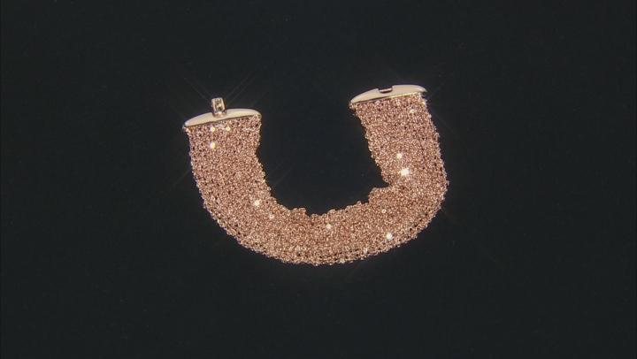 18k Rose Gold Over Bronze Woven Bracelet 7.5 inch