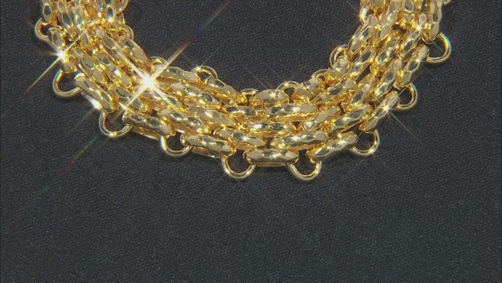 18k Yellow Gold Over Bronze Multi Strand Panther Bracelet