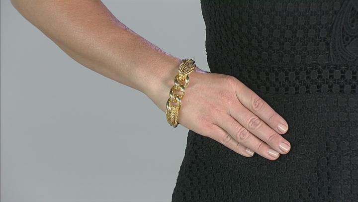 Moda Al Massimo® 18k Yellow Gold Over Bronze Grande Curb 9 inch Bracelet