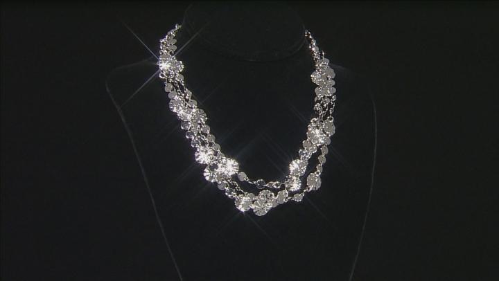 Rhodium Over Bronze Multi-Strand Lumachina Necklace 34.5 inch