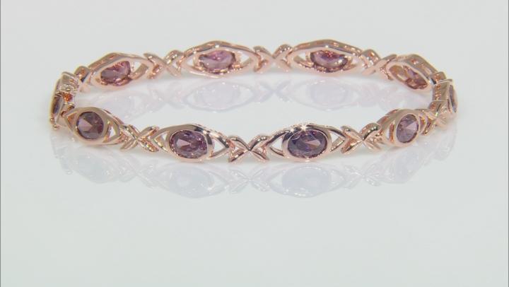 Blush Zircon Simulant 18K Rose Gold Over Sterling Silver Bracelet 8.00CTW