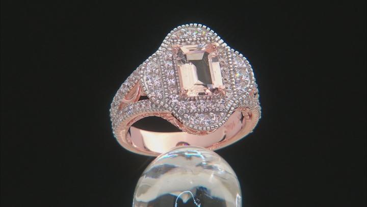 Pink Morganite 10k Rose Gold Ring 2.24ctw