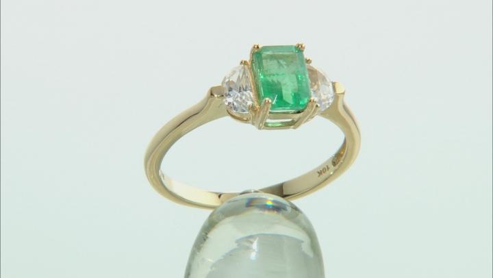 Green Ethiopian Emerald 10k Yellow Gold Ring 1.57ctw