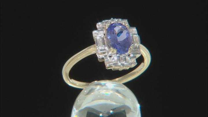 Blue Tanzanite 10k Yellow Gold ring 1.73ctw