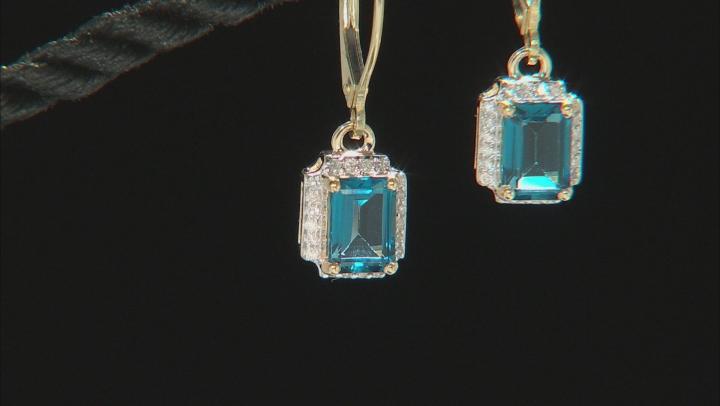 London Blue Topaz 10k Yellow Gold Earrings 2.23ctw