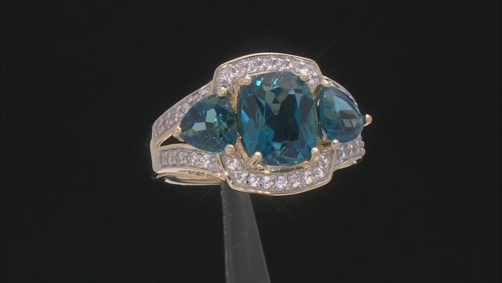 London Blue Topaz 10k Yellow Gold Ring 4.95ctw