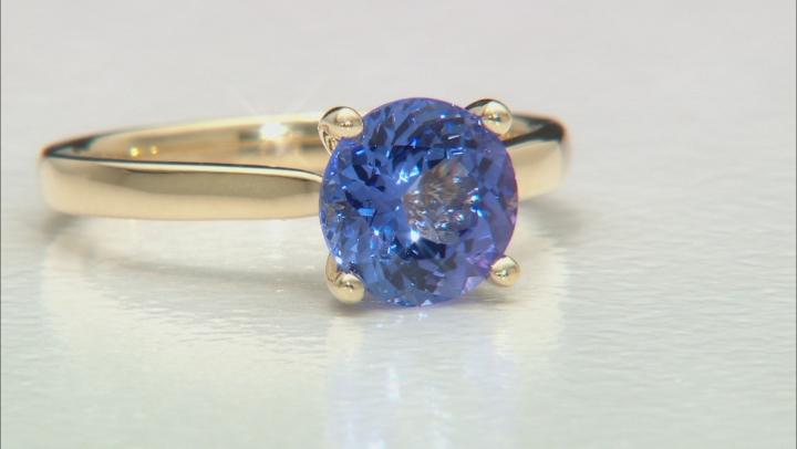 Blue Tanzanite 14k Yellow Gold Ring 1.65ct.