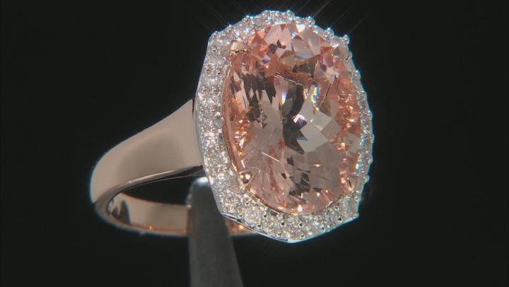 Pink Morganite 10k Rose Gold Ring 5.21ctw