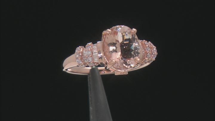 Pink Morganite 10k Rose Gold Ring 2.42ctw