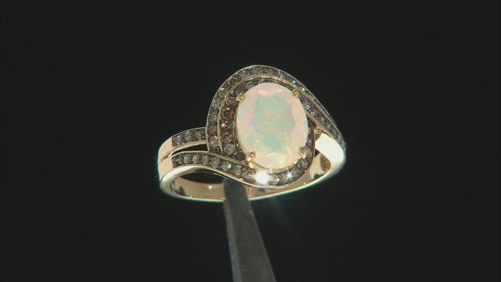 Multi Color Ethiopian Opal 14k Yellow Gold Ring 1.74ctw