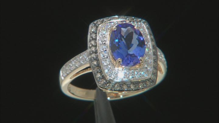 Blue Tanzanite 10k Yellow Gold Ring 1.94ctw