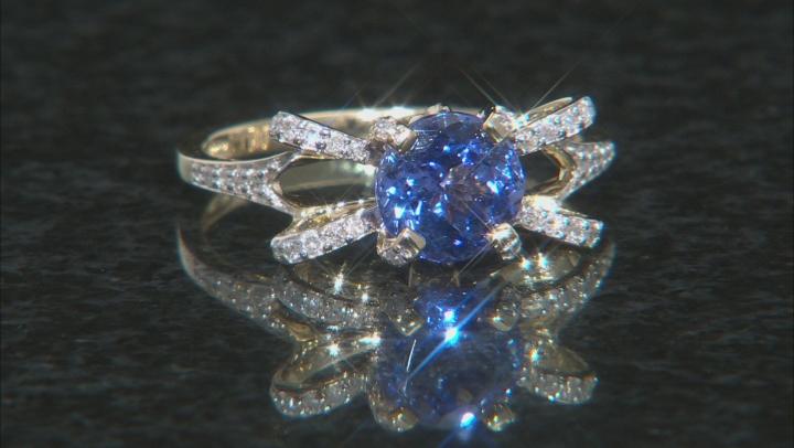 Blue Tanzanite 10k Yellow Gold Ring 1.39ctw