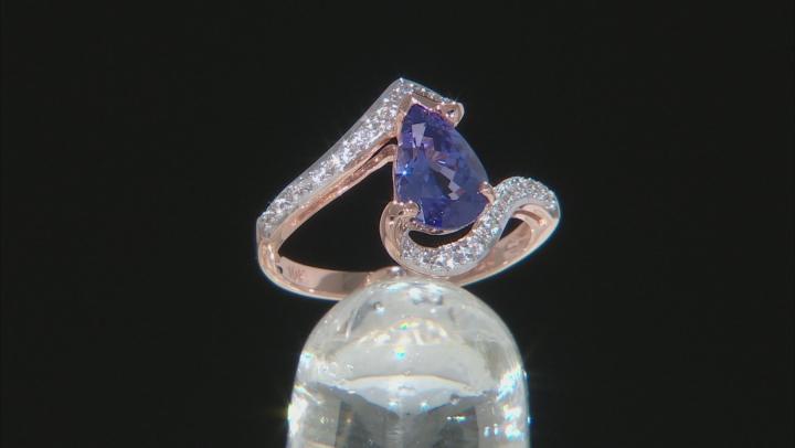 Blue Tanzanite 10k Rose Gold Ring 1.25ctw