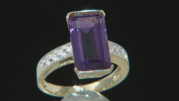 Purple Uruguayan Amethyst 10k Yellow Gold ring 4.64ctw
