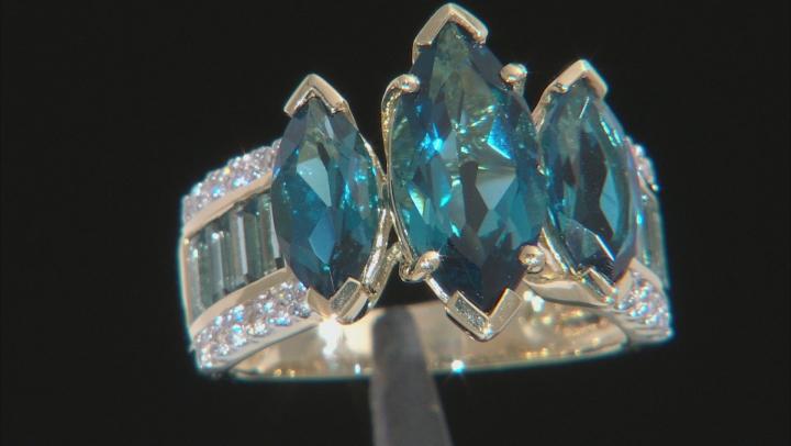 London Blue Topaz 10k Yellow Gold Ring 6.37ctw