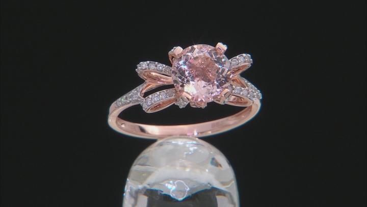 Pink Morganite 10k Rose Gold Ring 1.74ctw.