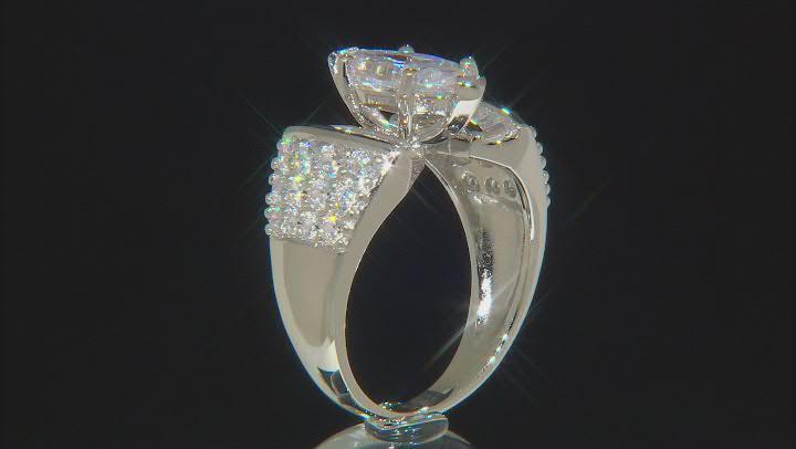 White Cubic Zirconia Rhodium Over Silver Bridal Ring 5.70ctw