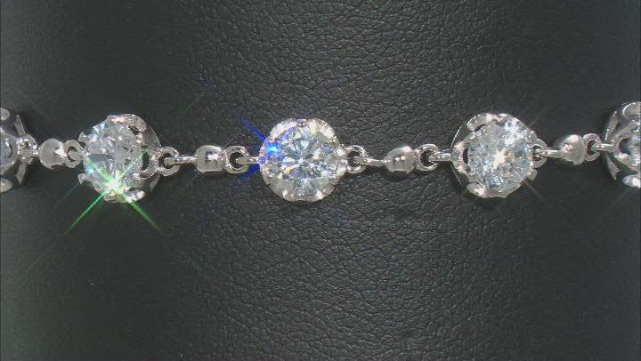 White Cubic Zirconia Rhodium Over Sterling Silver Tennis Bracelet 9.48ctw