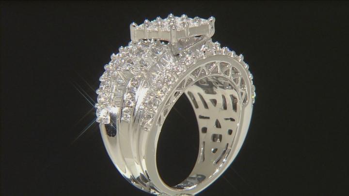 Cubic Zirconia Platineve Ring 6.45ctw
