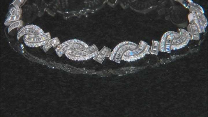 White Cubic Zirconia Rhodium Over Sterling Silver Tennis Bracelet 9.77ctw