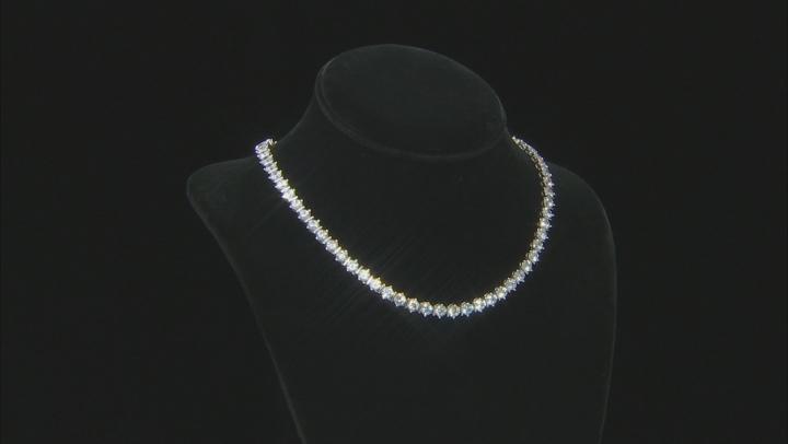 White Cubic Zirconia Rhodium Over Sterling Silver Tennis Bracelet 63.70ctw