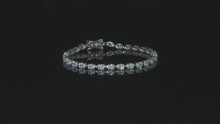 White Cubic Zirconia Rhodium Over Sterling Silver Tennis Bracelet 13.65ctw