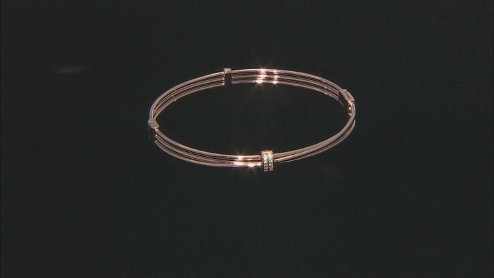 White Cubic Zirconia 18K Rose Gold Over Sterling Silver Bracelet 0.15ctw