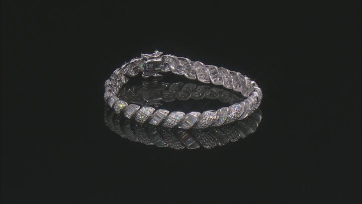 White Cubic Zirconia Rhodium Over Sterling Silver Tennis Bracelet 18.07ctw