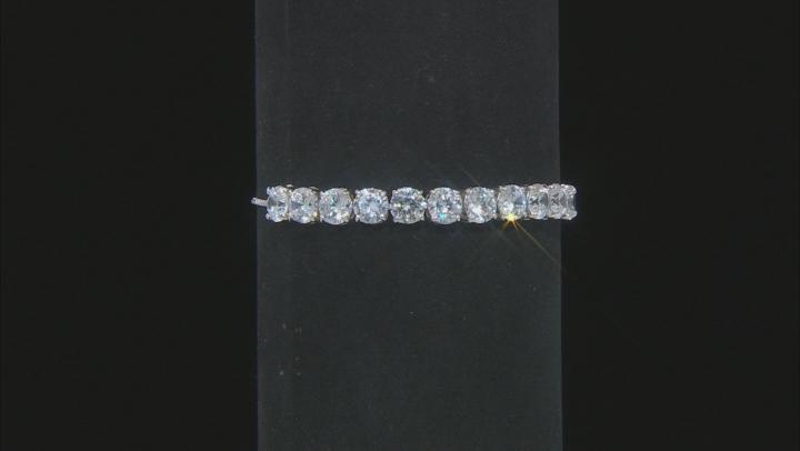 White Cubic Zirconia Rhodium Over Sterling Silver Adjustable Bracelet 15.90ctw