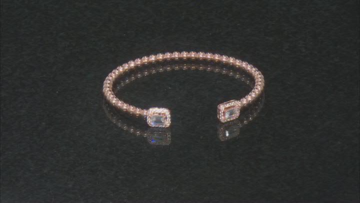 White Cubic Zirconia 18K Rose Gold Over Sterling Silver Bracelet 2.48ctw
