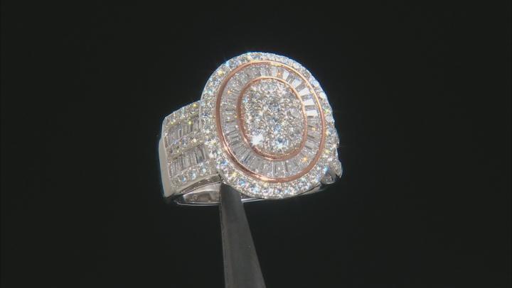 Cubic Zirconia Silver Ring 3.63ctw
