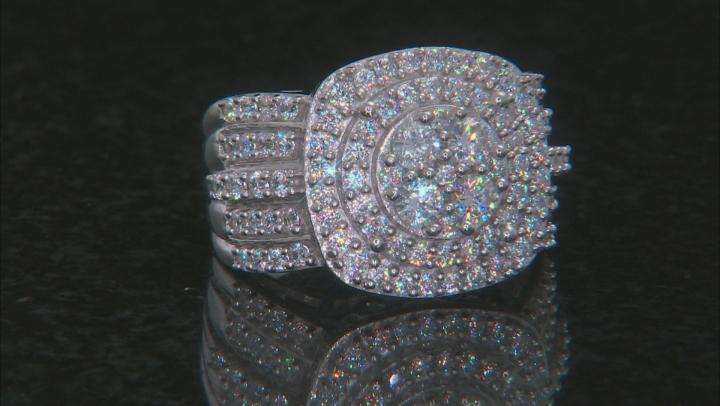 Cubic Zirconia Silver Ring 3.80ctw (1.53ctw DEW)