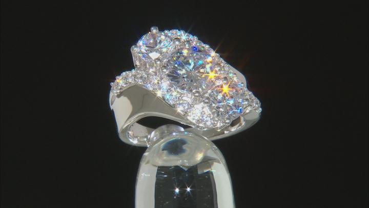 Cubic Zirconia Rhodium Over Silver Ring 7.75ctw