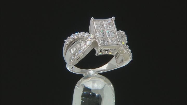 Cubic Zirconia Silver Ring 4.40ctw (2.94ctw DEW)
