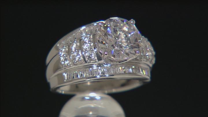 Cubic Zirconia Silver Ring 8.88ctw (5.17ctw DEW)