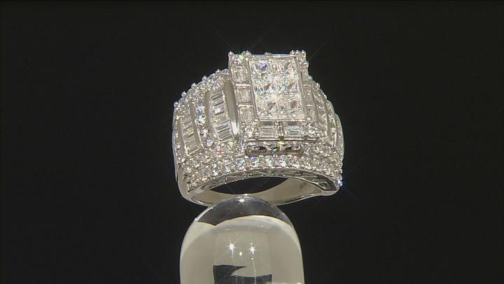 Cubic Zirconia Silver Ring 6.74ctw (4.60ctw DEW)