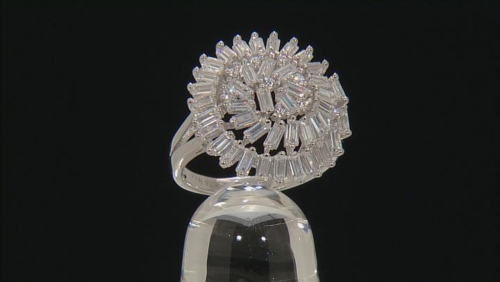 White Cubic Zirconia Rhodium Over Silver Ring 4.08ctw